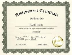 certificate of achievement word template certificate of achievement wording