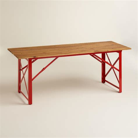 red dining bench red beer garden dining table world market