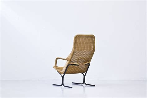 wicker lounge chair by dirk sliedregt for roh 233