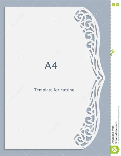 Shaped Greeting Card Templates Free by A4 Paper Lace Greeting Card White Pattern Cut Out