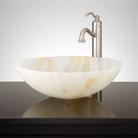 onyx bathroom sinks boro white onyx round vessel sink vessel sinks