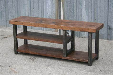 bench from chairs combine 9 industrial furniture industrial bench with shelf