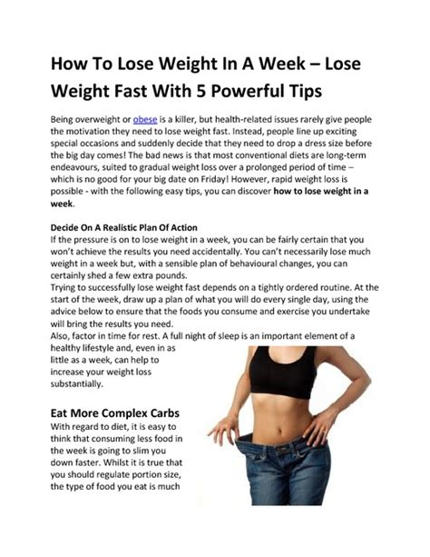 How To Shed Fast lezlie stratton how to lose weight in a week