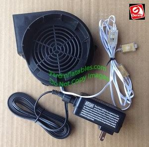 replacing lights in inflatables gemmy replacement 1 5a fan with 12v 1 5a adapter