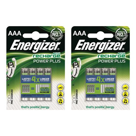 Battery Energizer Recharge Power Plus 2pcs Aaa Pack 8 pack energizer power plus precharged aaa lr3 rechargeable batteries aaa 700mah 7638900268324