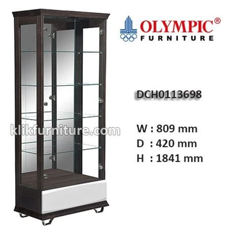 Lemari Tv Olympic Furniture dch0113698 lemari hias kaca olympic new