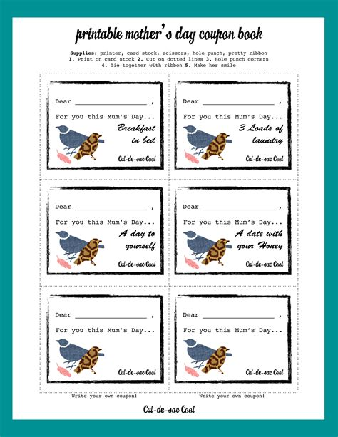 printable picture book diy printable s day coupon book