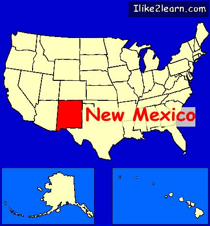 new mexico on map of usa new mexico