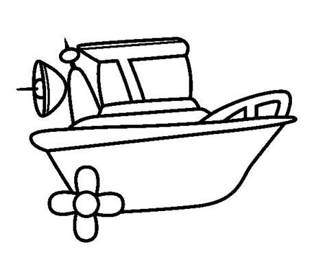 dibuix de barco a motor per pintar on line dibuixos cat - Barcos Para Pintar On Line