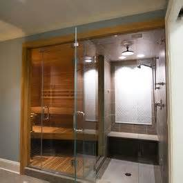 sauna and shower combo bathrooms