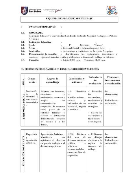 sesiones de aprendizaje en inicial 2016 rutas aprendizaje sesiones de clase en inicial modelo de