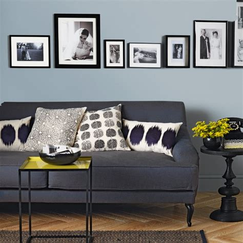 pale blue and charcoal grey living room living room