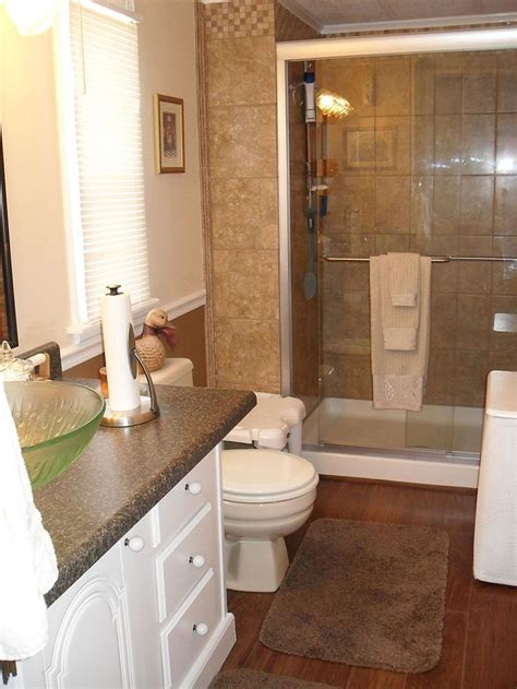 interior top of mobile home bathroom vanity with