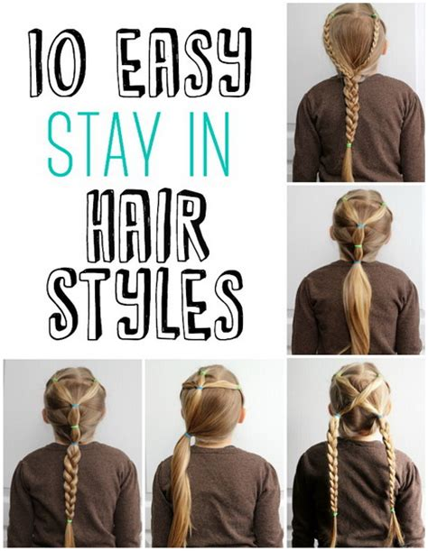 easy hairstyles for a school day 10 easy hairstyles for school