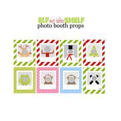printable elf props photo booth elf on the shelf pinterest photo booths