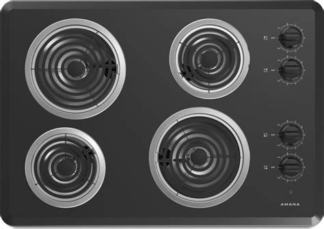 Amana Cooktop Knobs by Amana Acc6340kfb 30 Quot Electric Cooktop