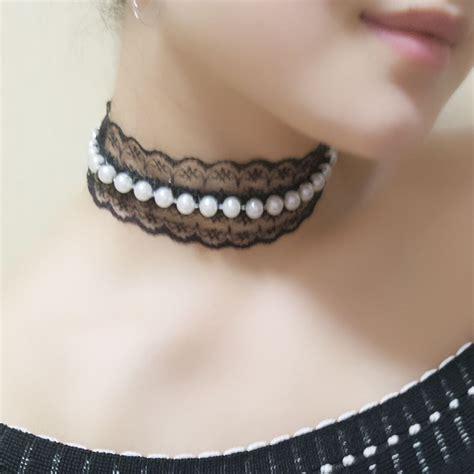 best necklaces for short necks in women handmade lace flower wide choker necklace for women