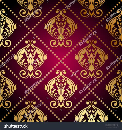 maroon ornaments vector maroon wallpaper with gold ornament 196080416