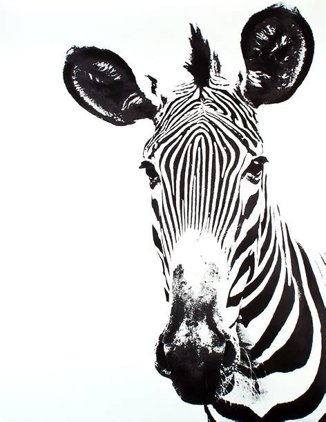 zebra head tattoo design