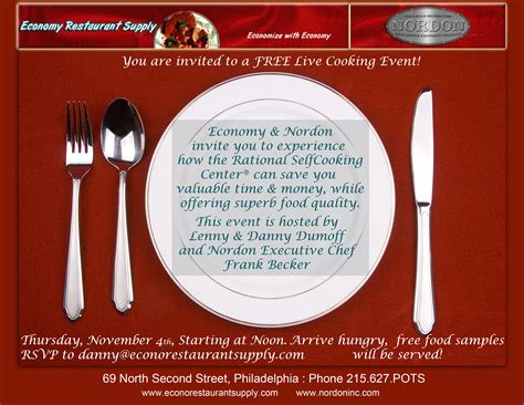 restaurant invitation layout your trusted advisor in foodservice equipment food