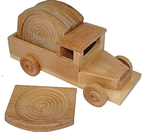 Handcrafted Wooden Gifts - wooden car coaster set promotional items and gifts
