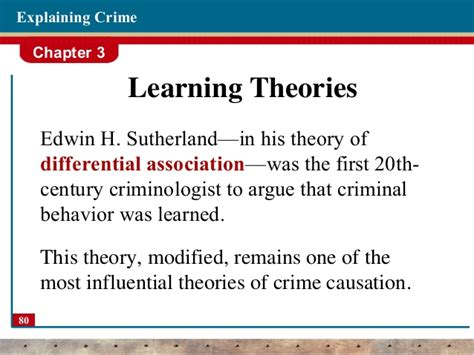 pattern theory of crime theories of crime criminology