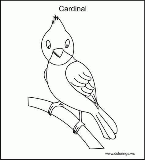 coloring page cardinal cardinal bird images free coloring home