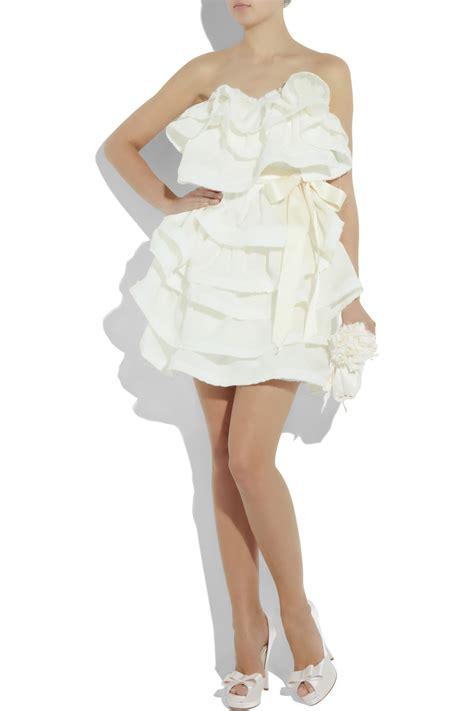 Lanvin Tiered Silk Gazar Dress by Lanvin Tiered Silk Gazar Dress In Beige Ivory Lyst