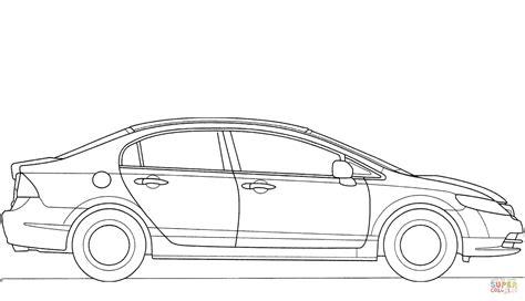 coloring pages honda cars honda civic 2008 coloring page free printable coloring pages