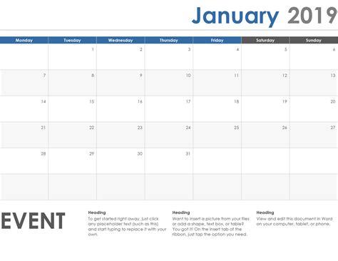 microsoft word calendar template  edit  calendar printable