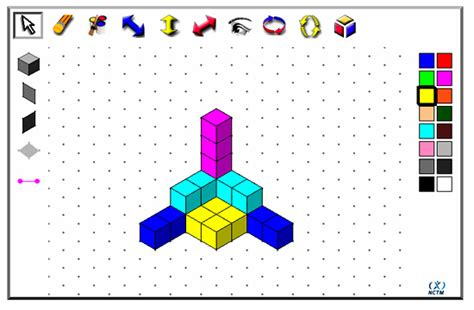 online 3d drawing tool isometric drawing and 3d cubes passy s world of mathematics
