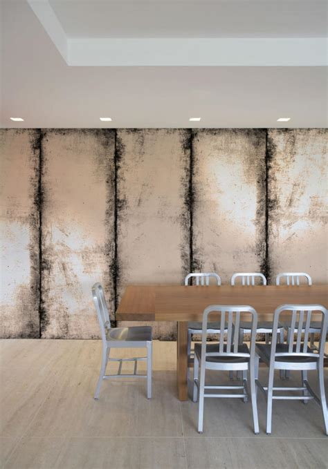 brick wood and concrete distressed panel tektura wallcoverings