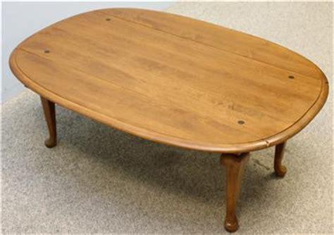 ethan allen oval coffee table ethan allen maple oval dropleaf coffee table ebay