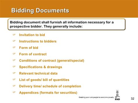 Bidding Documents Format