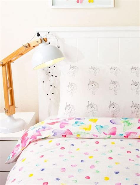 unicorn bedroom pillowcase unicorn screen printed bedroom decor