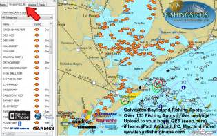 fishing map galveston bay fishing map