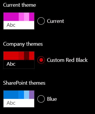 office 365 themes black mamba creating custom site themes using powershell sharepoint