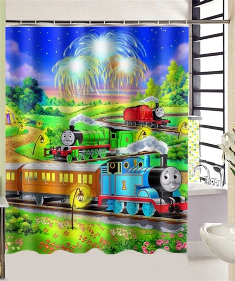 thomas the train shower curtain thomas the tank engine train print bath curtain decors