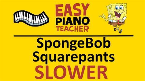 go keyboard themes spongebob easy piano spongebob keyboard tutorial slow tv theme by