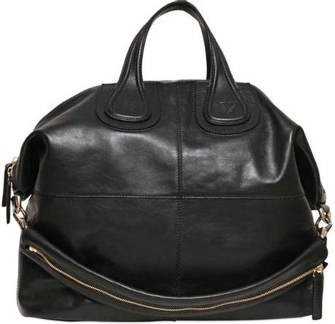 Givenchy Nightingale Bag Smooth Hardware Gold 10145 givenchy large nightingale waxy leather bag in black lyst