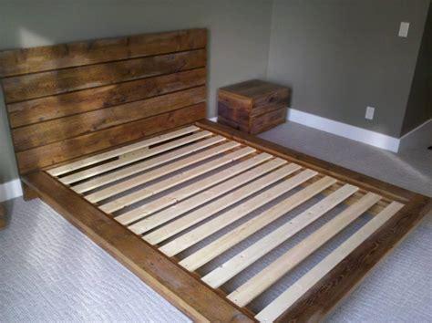 rustic platform bed custom sized rustic platform bed