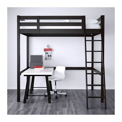 Storå Loft Bed Frame Black Stor 197 Loft Bed Frame Black Ikea
