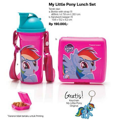 Pony Lunch Set Tupperware my littlepony lunch set tupperware wadah bekal makan minum