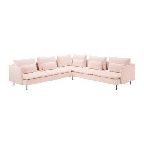 pink fabric corner sofa s 214 derhamn corner sofa 2 2 samsta light pink ikea