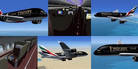 Black Airbus fs freeware net fsx airbus a380 emirates black package