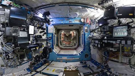 iss interior vr 360 with real ambient sounds