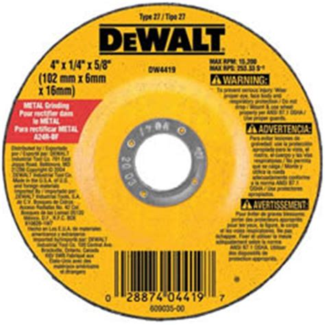 dewalt  gp metal grinding wheel mikes tools