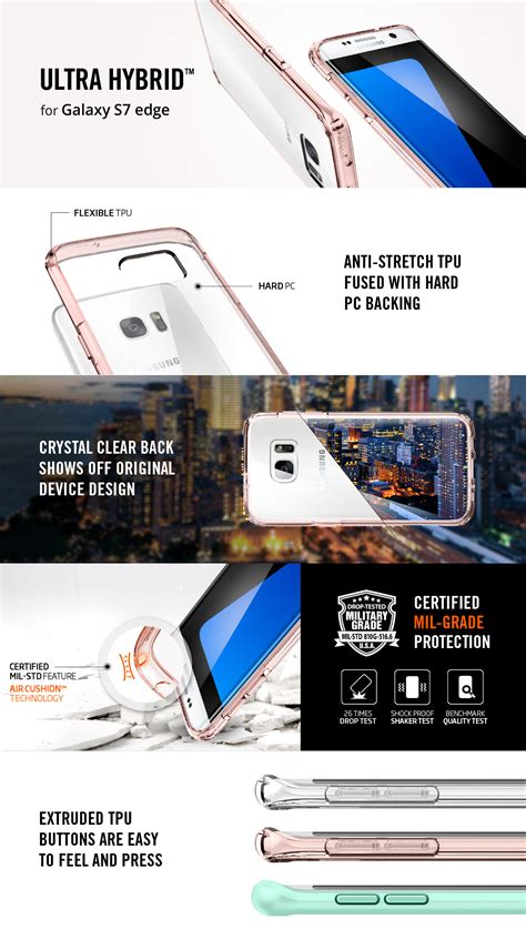 Spigen Ultra Hybrid Samsung Galaxy S7 Edge Original spigen galaxy s7 edge ultra hybrid series cases ebay