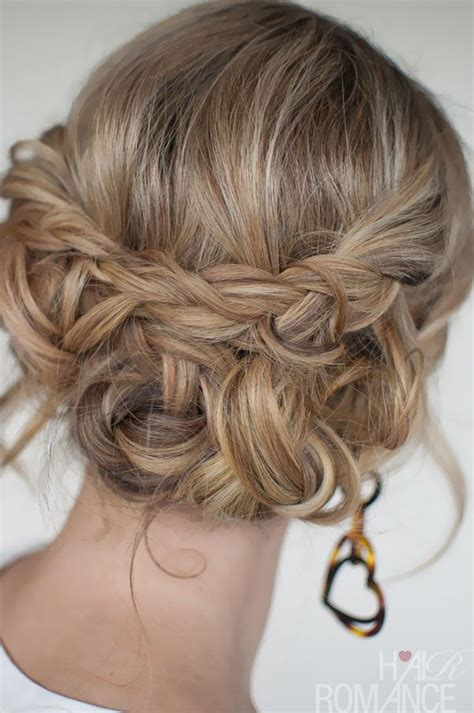 braided hairstyles party casual messy braided updo the best braided updos for