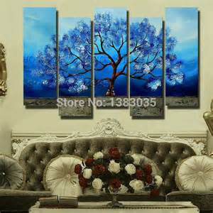 Home Decor Canvas 2017 Hand Painted Tree Canvas Oil Painting Modern Abstract
